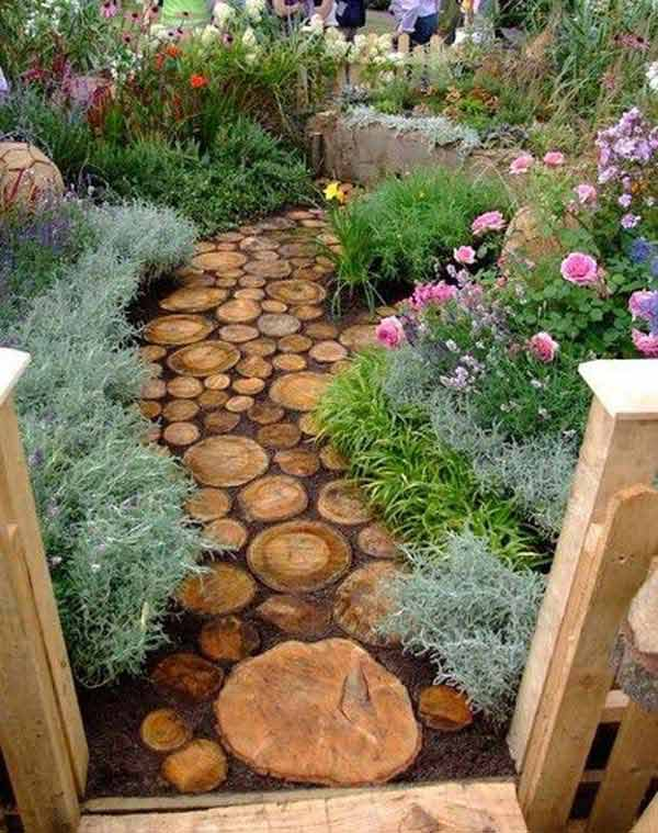 Backyard Landscaping Wood